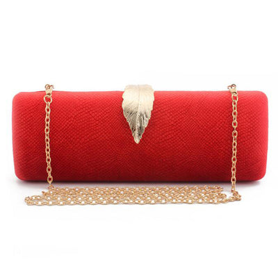 Women Faux Suede Evening Clutch Bag Red / 26 x 6 x 10 cm - Women Handbags & Purses | MegaMallExpress.com