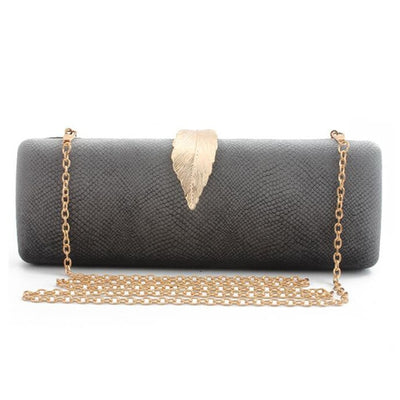 Women Faux Suede Evening Clutch Bag Gray / 26 x 6 x 10 cm - Women Handbags & Purses | MegaMallExpress.com