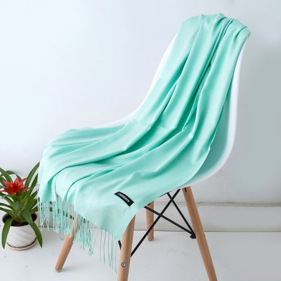 Spring Scarves For Women Turquoise 6 - Women Socks & More | MegaMallExpress.com