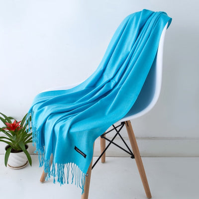 Spring Scarves For Women Turquoise 8 - Women Socks & More | MegaMallExpress.com