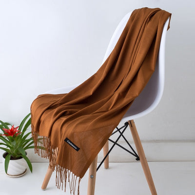 Spring Scarves For Women Brown 27 - Women Socks & More | MegaMallExpress.com
