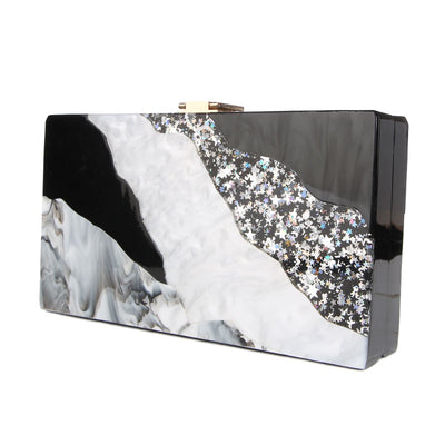 Elegant Marbleized Acrylic Party Purse  - Women Handbags & Purses | MegaMallExpress.com