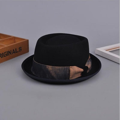 100% Wool Classic Fedora Hat black - Men Hats & Caps | MegaMallExpress.com