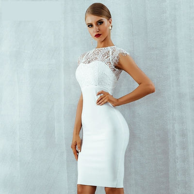2019 Summer Bandage Club Dresses White / XS - Women Dresses | MegaMallExpress.com