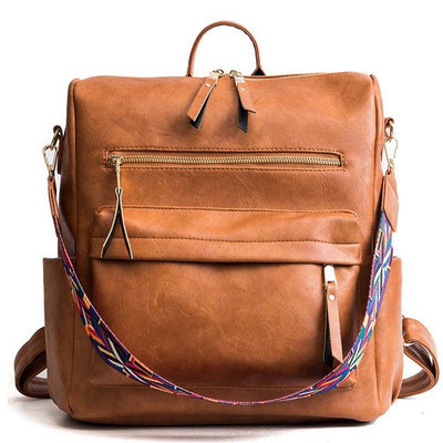 Women's Leather School Backpacks Brown - Everyday Backpacks | MegaMallExpress.com