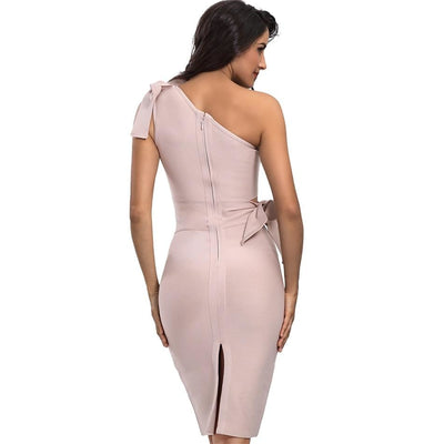 2019 Summer One Shoulder Bandage Party Dresses  - Women Dresses | MegaMallExpress.com