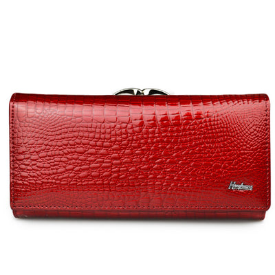 Women's Alligator Grain Clutch Wallets Red - Women Wallets | MegaMallExpress.com