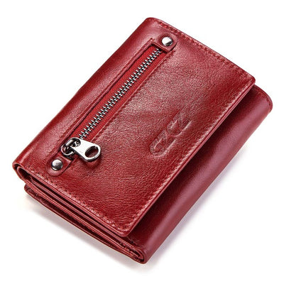 Women's Bifold RFID Wallets On Sale Red-S - Women Wallets | MegaMallExpress.com