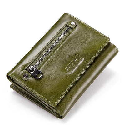 Women's Bifold RFID Wallets On Sale Green-S - Women Wallets | MegaMallExpress.com