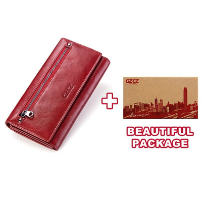 Women's Bifold RFID Wallets On Sale Red-L-BOX - Women Wallets | MegaMallExpress.com