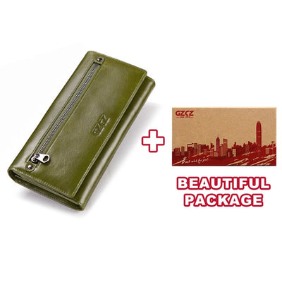 Women's Bifold RFID Wallets On Sale Green-L-BOX - Women Wallets | MegaMallExpress.com