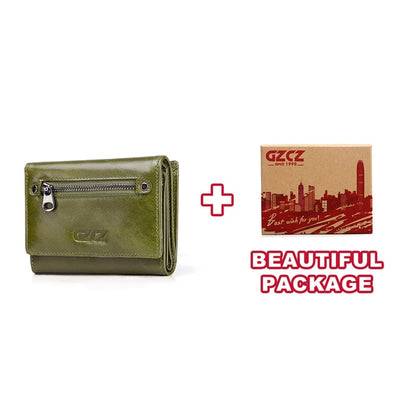 Women's Bifold RFID Wallets On Sale Green-S-BOX - Women Wallets | MegaMallExpress.com