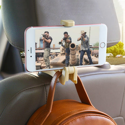 Universal Back Seat Bag Hangers With Phone Holder  - Trending Products | MegaMallExpress.com