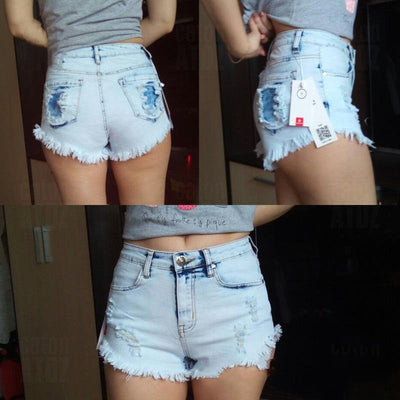 Sexy Distressed Denim Shorts  - Women Bottoms | MegaMallExpress.com