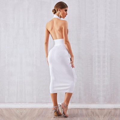 2019 Backless Halter Bandage Dresses  - Women Dresses | MegaMallExpress.com