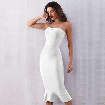 2019 Sexy Strapless Party Dresses White / XS - Women Dresses | MegaMallExpress.com