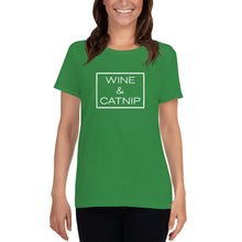 "Load image into Gallery viewer, ""Wine & Catnip"" Women's T-Shirt"