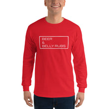 "Load image into Gallery viewer, ""Beer & Belly Rubs"" Long Sleeve"
