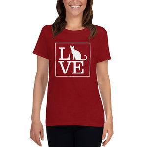 """LOVE (Cat)"" Women's T-Shirt"
