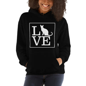"""LOVE (Cat)"" Hooded Sweatshirt"