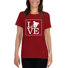 "Load image into Gallery viewer, ""LOVE (Dog)"" Women's T-Shirt"