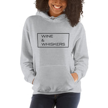 "Load image into Gallery viewer, ""Wine & Whiskers"" Hooded Sweatshirt"