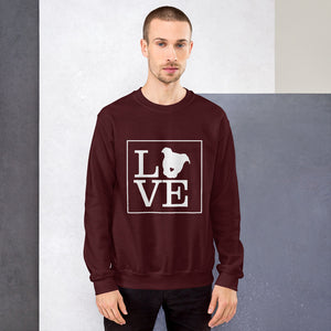 """LOVE (Dog)"" Crewneck Sweatshirt"