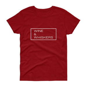 """Wine & Whiskers"" Women's T-Shirt"