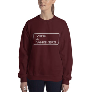 """Wine & Whiskers"" Crewneck Sweatshirt"