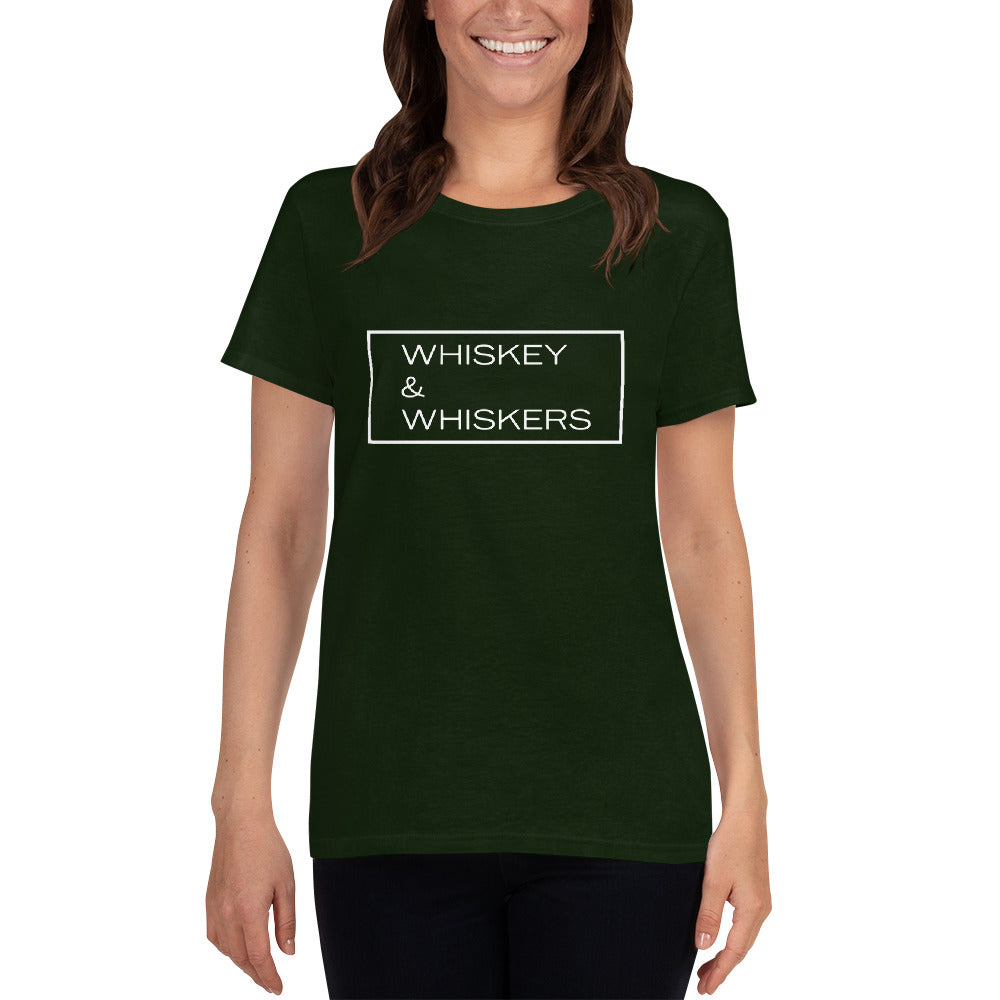 """Whiskey & Whiskers"" Women's T-Shirt"