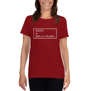 """Beer & Belly Rubs"" Women's T-Shirt"