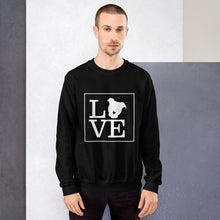 "Load image into Gallery viewer, ""LOVE (Dog)"" Crewneck Sweatshirt"
