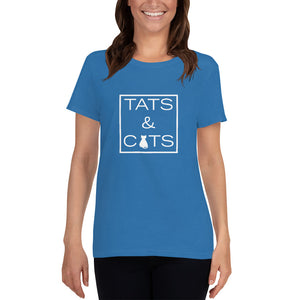 """Tats & Cats"" Women's T-Shirt"