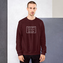 "Load image into Gallery viewer, ""Adopt. Don't Shop."" Sweatshirt"