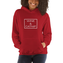 "Load image into Gallery viewer, ""Wine & Catnip"" Hooded Sweatshirt"