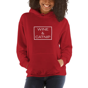 """Wine & Catnip"" Hooded Sweatshirt"