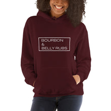 "Load image into Gallery viewer, ""Bourbon & Belly Rubs"" Hooded Sweatshirt"
