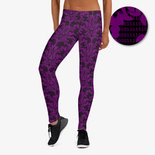 Load image into Gallery viewer, Binary Damask Leggings