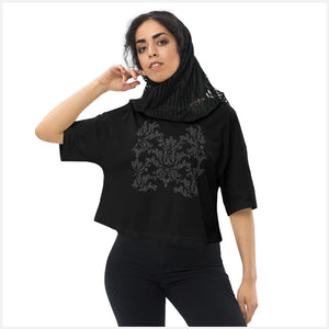 Binary Damask Flowy Long Sleeve TShirt