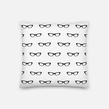 Load image into Gallery viewer, Mini Spectacles White Pillow