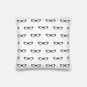Mini Spectacles White Pillow