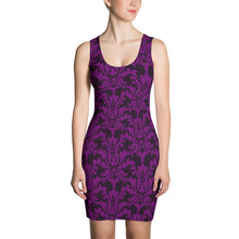 Load image into Gallery viewer, Binary Damask Pencil Dress