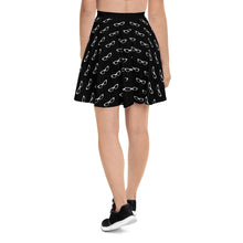 Load image into Gallery viewer, Get Smarty Black Skater Skirt