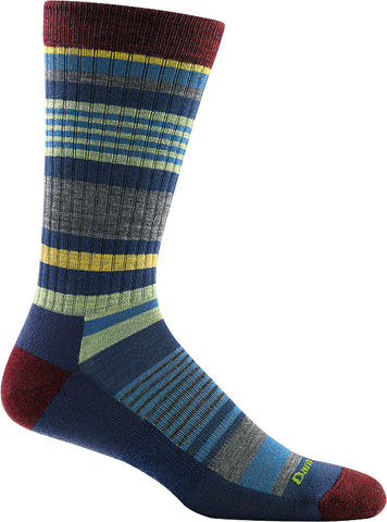 Men's Unstandard Stripe Crew Light Cushion Sock Denim