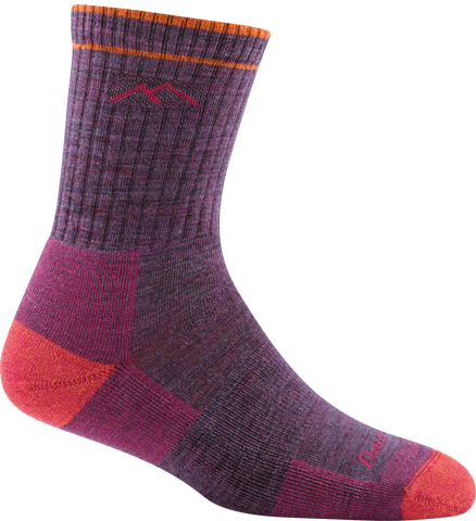 Women's Hiker Micro Crew Sock Cushion Plum