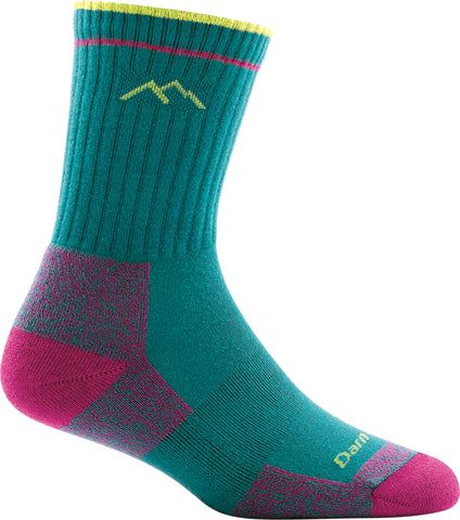 Women's Coolmax Micro Crew Cushion Sock Teal