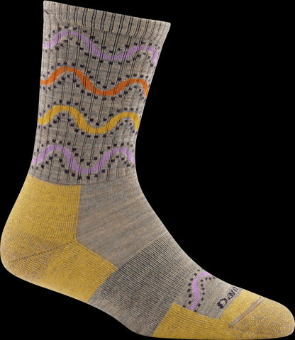 Women's Wandering Stripe Micro Crew Light Cushion Sock Brown