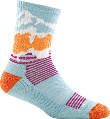 Kids Three Peaks Micro Crew Light Cushion Sock Glacier