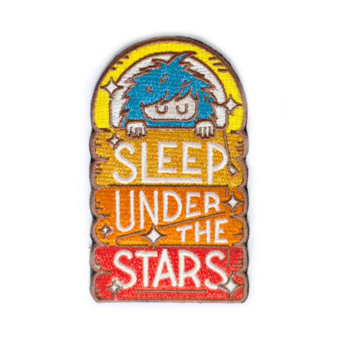 Sasquatch Sleep Under the Stars Rainbow Patch