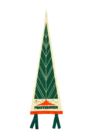 Forevergreen Tree Wool Pennant